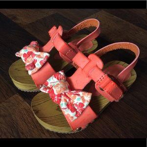 Genuine kids toddler girl 5 platform sandals shoes